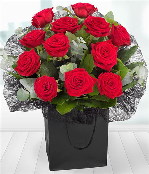 A Dozen Red Roses Gift Bag